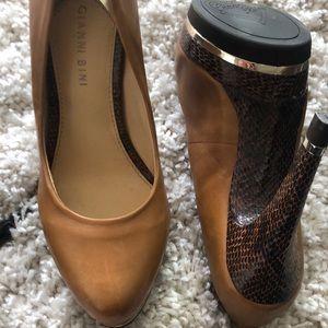 Gianni Bini snake and leather heels